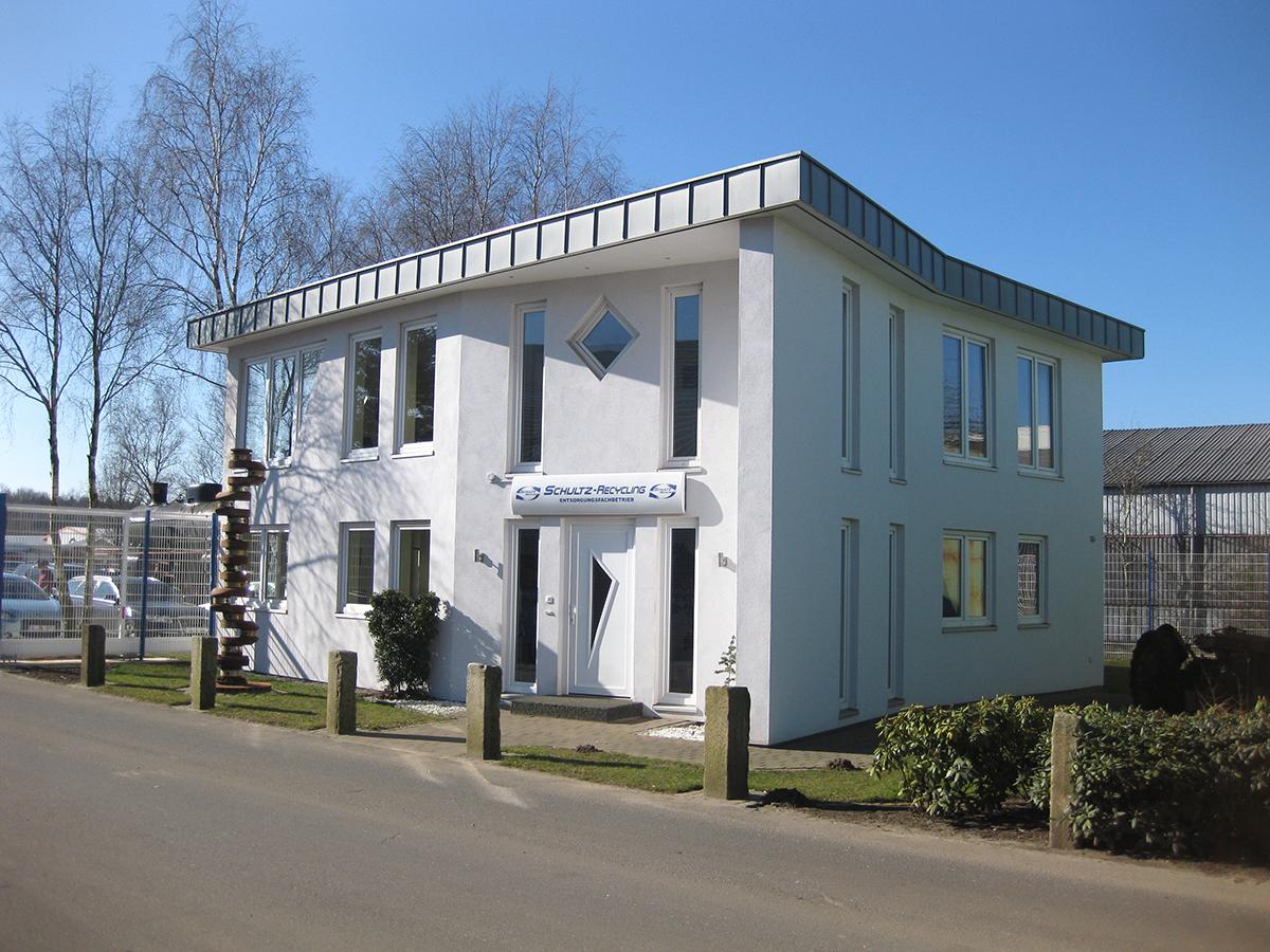 Bürogebäude der Firma Schultz Recycling in Kropp
